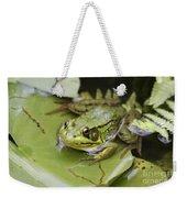 Ribbet In The Pond Weekender Tote Bag