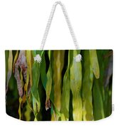 Ribbons Of Green Weekender Tote Bag