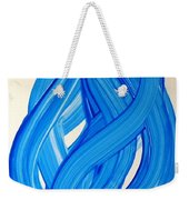 Ribbons Of Love-blue Weekender Tote Bag