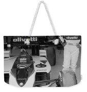 Riccardo Patrese. 1986 Spanish Grand Prix Weekender Tote Bag