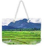 Rice Paddies And Mountains Weekender Tote Bag
