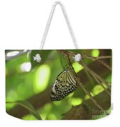 Rice Paper Butterfly Clinging To A Tree Branch Weekender Tote Bag
