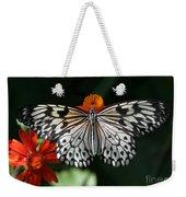Rice Paper Butterfly Weekender Tote Bag