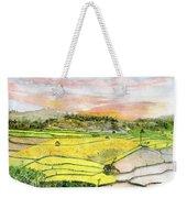 Ricefield Terrace Weekender Tote Bag