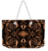 Rich Coffee Fractal Roses Weekender Tote Bag