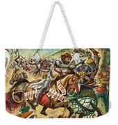 Richard The Lionheart During The Crusades Weekender Tote Bag