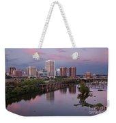 Richmond Skyline Sunset Pink Weekender Tote Bag