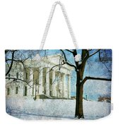 Richmond Virginia Capitol In Snow Weekender Tote Bag