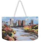 Richmond Virginia Skyline In Autumn Weekender Tote Bag