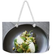 Ricotta And Salad With Herbs On Rye Bread Weekender Tote Bag