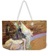 Rider On A White Horse Weekender Tote Bag by Henri de Toulouse Lautrec