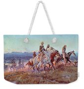 Riders Of The Open Range Weekender Tote Bag by Charles Marion Russell