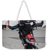 Riding A Wheelie Weekender Tote Bag