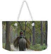 Riding An Elephant Weekender Tote Bag