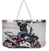 Riding Backwards Weekender Tote Bag
