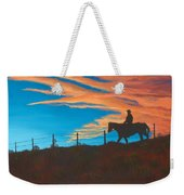 Riding Fence Weekender Tote Bag by Jerry McElroy