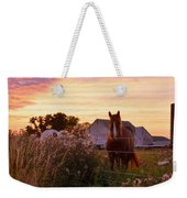 Riding Off Into The Sunset Weekender Tote Bag