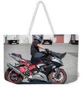 Riding On Handle Bars Weekender Tote Bag