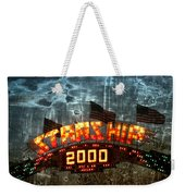 Night Ride On The Starship Weekender Tote Bag