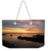 Riding The Sunset Weekender Tote Bag