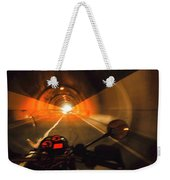 Riding Through One Of The Many Tunnels In The Italian Alps Weekender Tote Bag