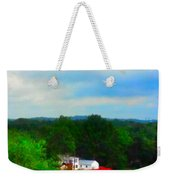 Right Field And Green Meadows Weekender Tote Bag