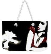 Rihanna In Red Weekender Tote Bag