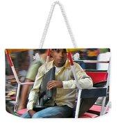Rikshaw Rider - New Delhi India Weekender Tote Bag