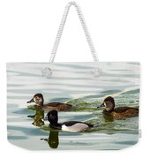 Ring-necked Trio Weekender Tote Bag