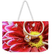 rings pink dahlias love Valentine's Day Tinted  and softened - diamond wedding  Weekender Tote Bag
