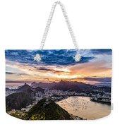 Rio De Janeiro Sunset Weekender Tote Bag