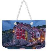 Riomaggiore In Cinque Terre Italy Painterly Weekender Tote Bag