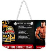 Ripped Max Muscle Weekender Tote Bag