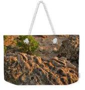 Ripple Boulders At Sunset In Bentonite Quarry Weekender Tote Bag