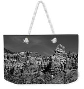 Rippled Walls B-w Weekender Tote Bag