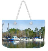 Ripples And Lines Weekender Tote Bag