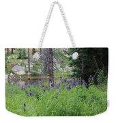 Ripples Behind Wildflowers Weekender Tote Bag