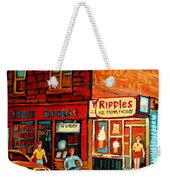 Ripples Ice Cream Factory Weekender Tote Bag