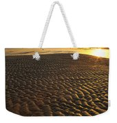 Ripples In The Sand Low Tide Golden Sunset Weekender Tote Bag