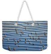 Ripples Of Sand Dotted With Plovers Weekender Tote Bag