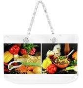 Rise And Pilaf - Collage Weekender Tote Bag