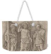 Risen Christ Between Saints Andrew And Longinus Weekender Tote Bag