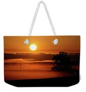 Rising Sun Lighting Ground Fog Weekender Tote Bag