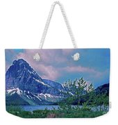 Rising Wolf Mountain And Two Medicine Lake Weekender Tote Bag
