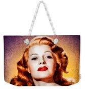 Rita Hayworth, Vintage Actress Weekender Tote Bag