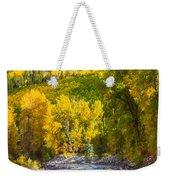 River And Aspens Weekender Tote Bag
