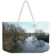 River At Marston On Dove Weekender Tote Bag
