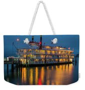 River Boat At Dusk Weekender Tote Bag