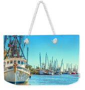 Darien Shrimp Boats Weekender Tote Bag