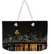 Ohio River Bridges And Louisville Skyline Weekender Tote Bag